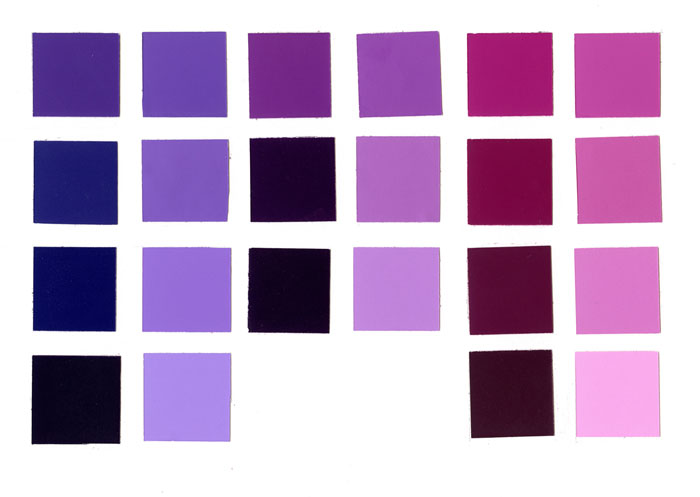 Different Shades Of Purple Chart Purple Shade Purple ...