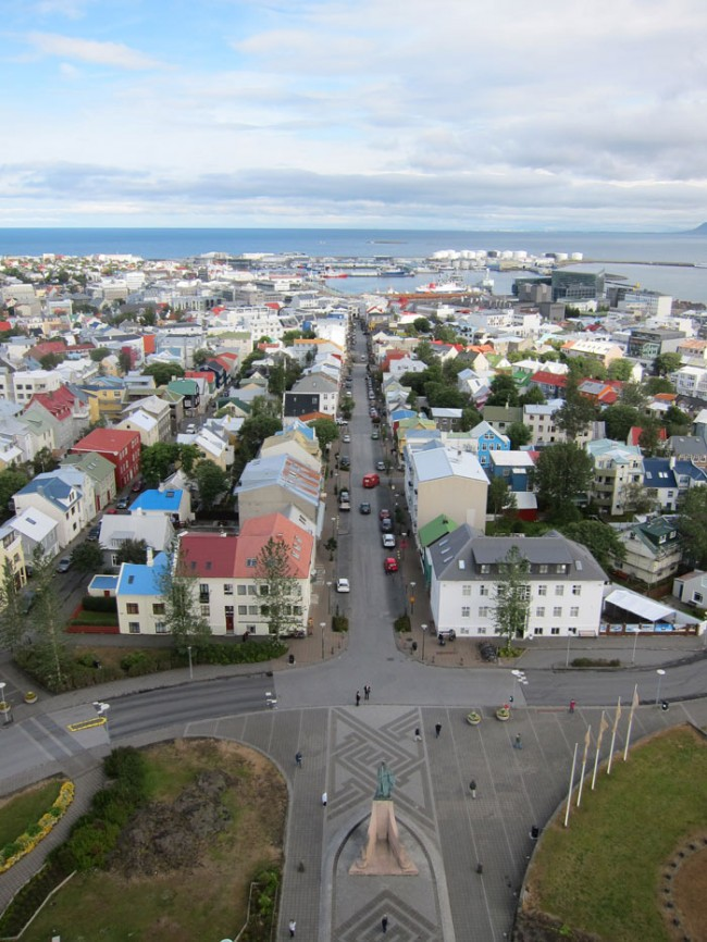 A view of Reykjavik from the top of the Hallgrímskirja.